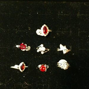 Lot of 7 Jewelscent rings